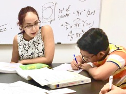 Yishun Seconday 1 Math Tuition Centre in small group. Students are taught ground up and we go through proper explanations of formulas. In this case, the formula for volume of cylinder is carefully explained by derivation.